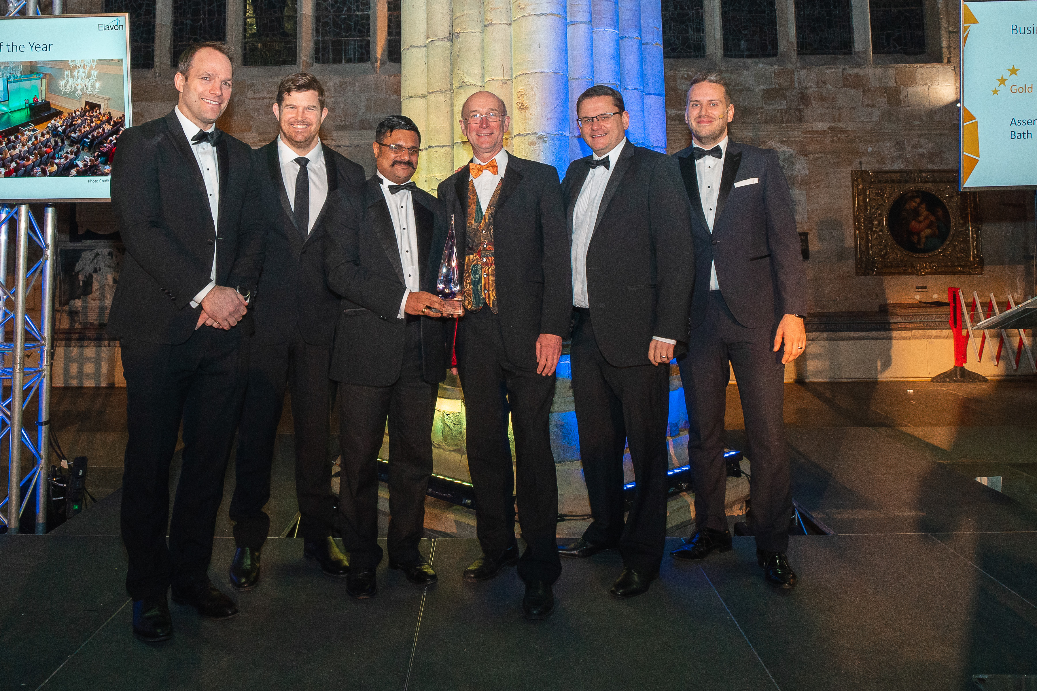 roman baths team with award