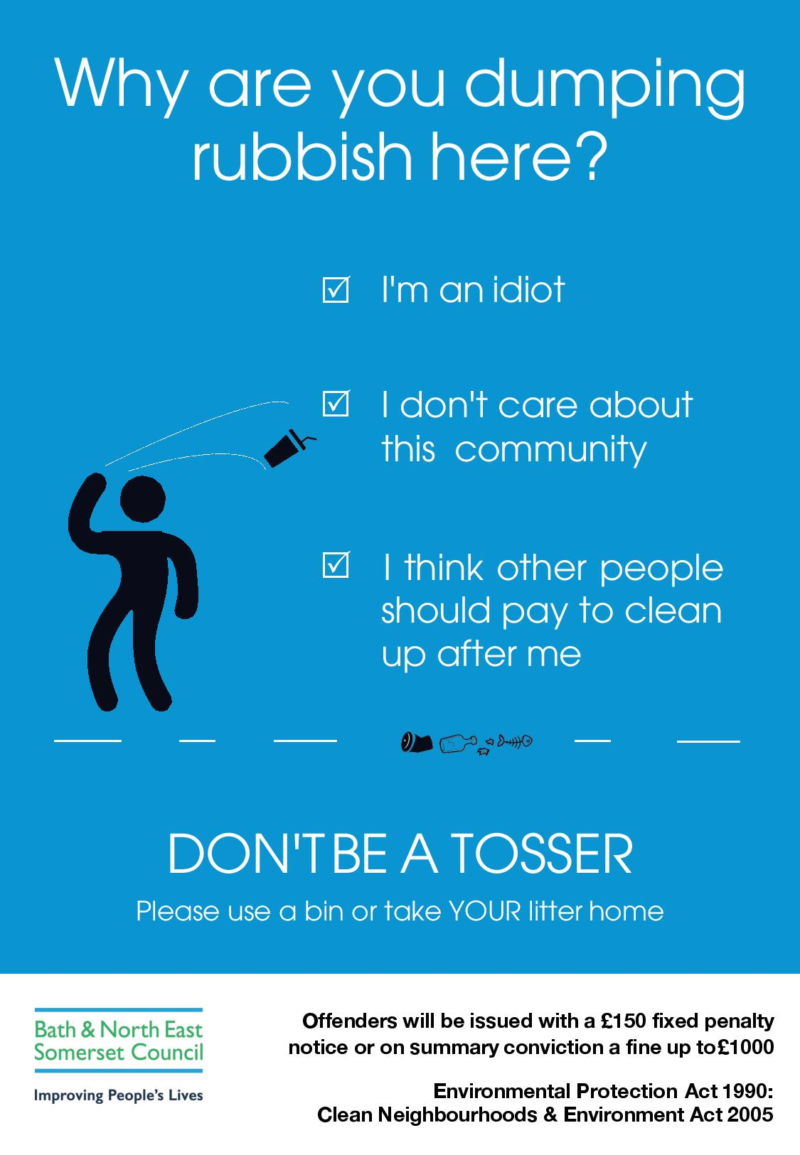 don't be a tosser