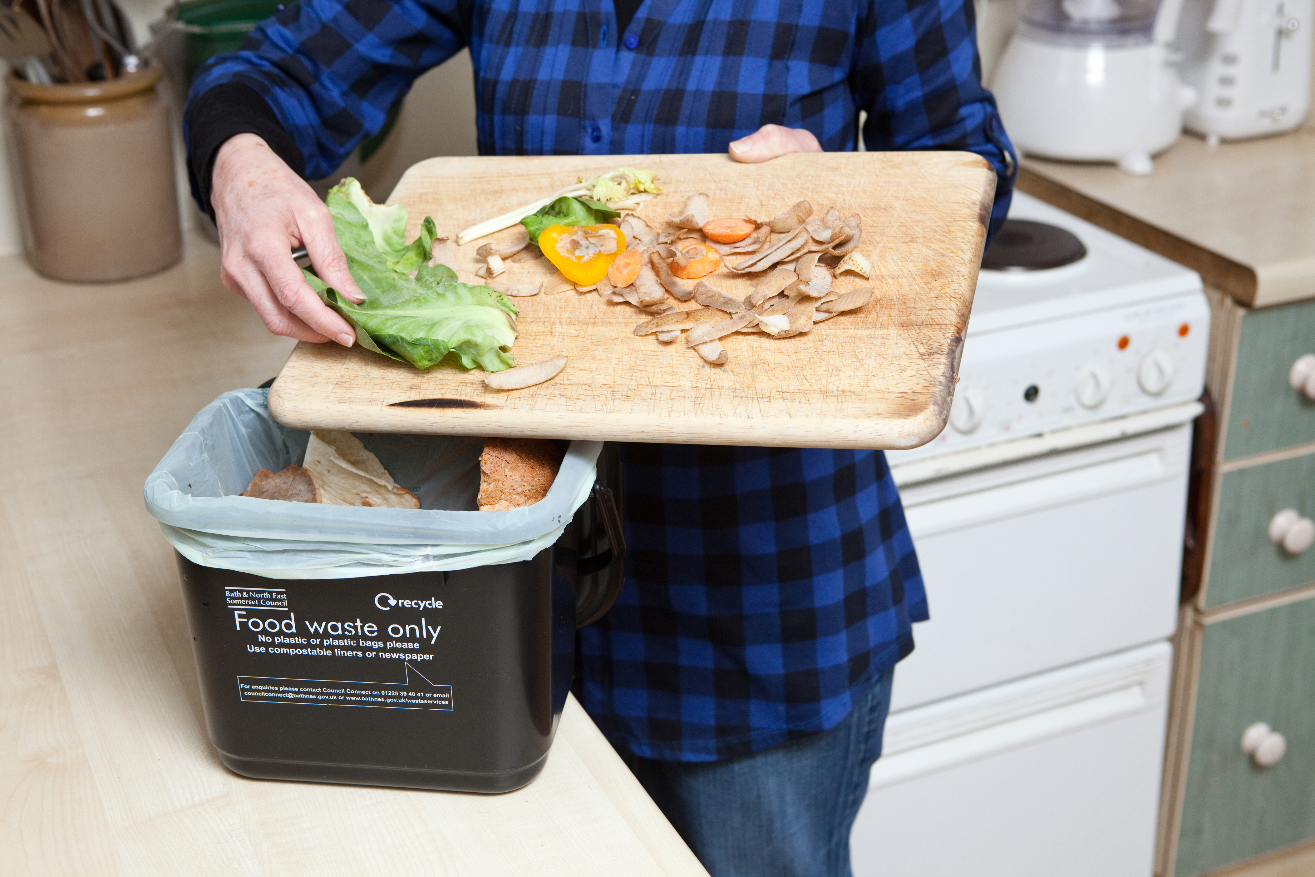 food waste caddy image